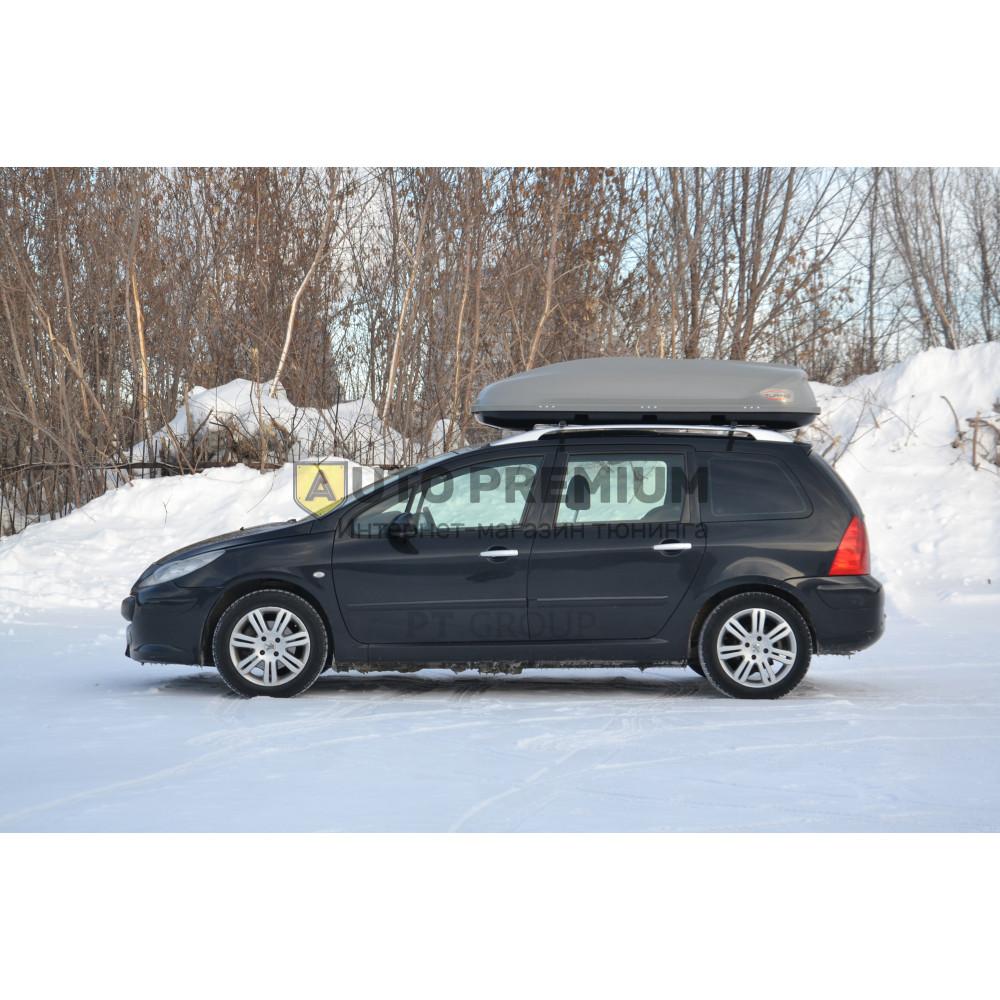 Автобокс на крышу Черный Turino Compact (360 л) Аэродинамический на крышу автомобиля