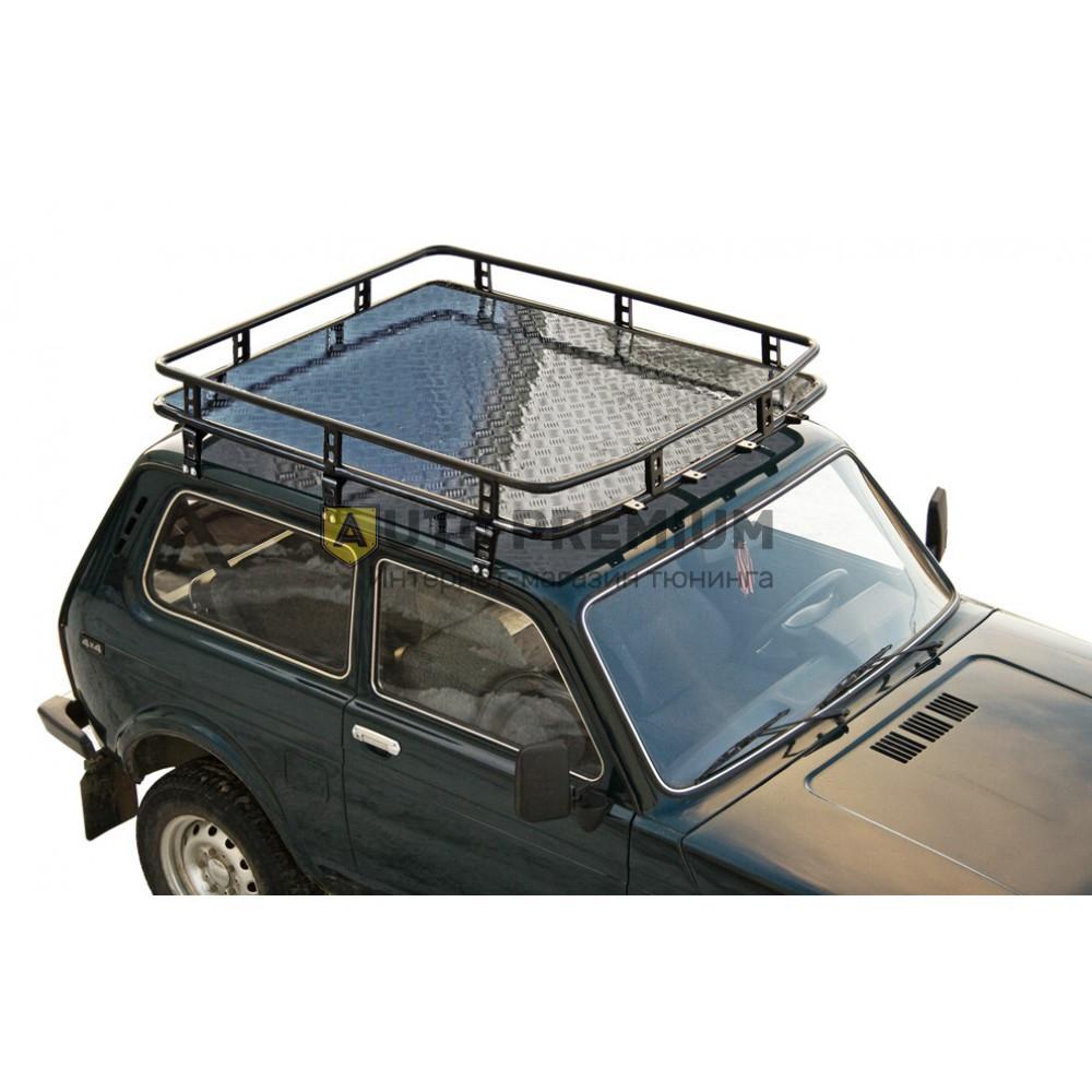 Багажник экспедиционный «Трофи» с ал. листом 21214